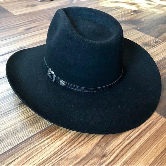 a0e6f4d44 MHT Westerns Black Cowboy Hat NWT